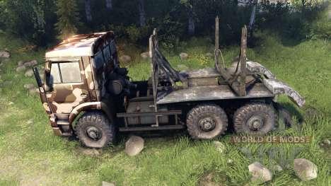 КамАЗ-6520 camo v2 для Spin Tires