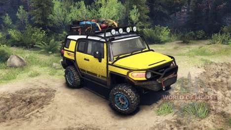 Toyota FJ Cruiser жёлтый для Spin Tires