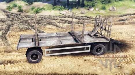 Прицеп-лесовоз MAN 19414 для Spin Tires