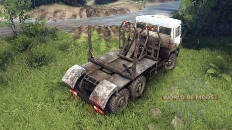 Бело-грязный окрас на КамАЗ-6520 для Spin Tires