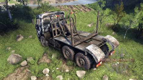КамАЗ-6520 camo v3 для Spin Tires