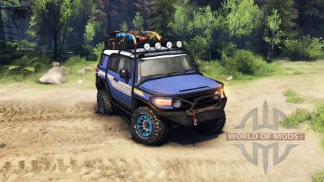 Toyota FJ Cruiser синий для Spin Tires