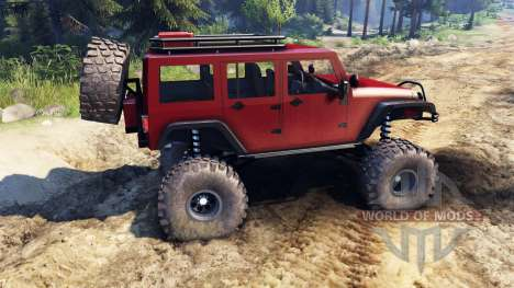 Jeep Wrangler Unlimited SID Red для Spin Tires