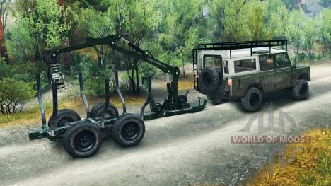 Land Rover Defender Series III v2.2 Green для Spin Tires