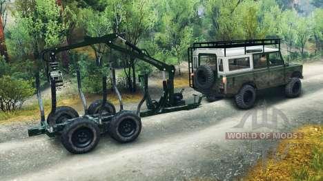 Land Rover Defender Series III v2.2 Green для Spin Tires