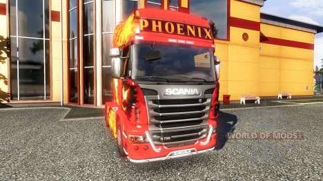 Окрас -Phoenix- на тягач Scania для Euro Truck Simulator 2