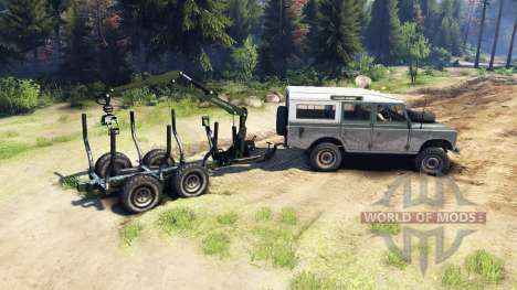 Land Rover Defender Series III v2.2 Cyan для Spin Tires