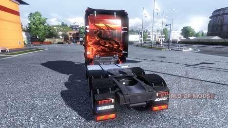 Окрас -Dragon- на тягач Scania для Euro Truck Simulator 2