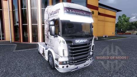 Окрас -Viking Line- на тягач Scania для Euro Truck Simulator 2
