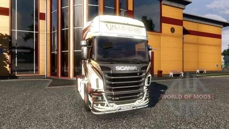Окрас -Valcarenghi- на тягач Scania для Euro Truck Simulator 2