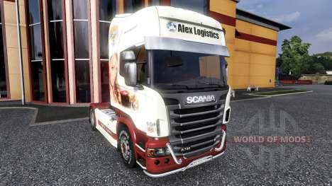 Окрас -Xmass- на тягач Scania для Euro Truck Simulator 2