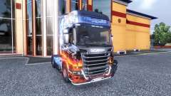 Окрас -Smokey and the Bandit- на тягач Scania