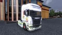 Окрас -Spongebob- на тягач Scania
