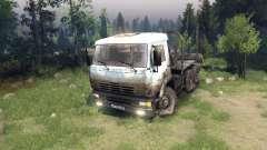 Бело-грязный окрас на КамАЗ-6520