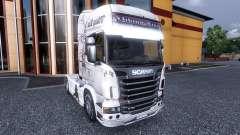 Окрас -Viking Line- на тягач Scania
