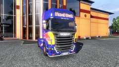 Окрас -Red Bull- на тягач Scania