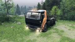Чёрно-оранжевый окрас на КамАЗ-6520