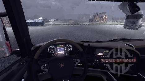 Новый дисплей у тягача Scania для Euro Truck Simulator 2