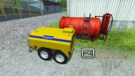 Прицеп-топливозаправщик Chieftain для Farming Simulator 2013