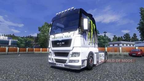 Окрас -Monster Energy- на тягач MAN для Euro Truck Simulator 2