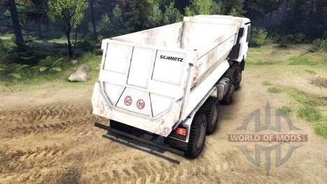 Mercedes-Benz Actros 4141 Tipper для Spin Tires