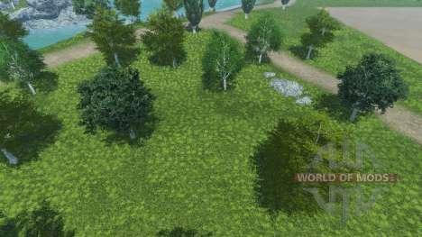 Новые текстуры деревьев и травы для Farming Simulator 2013