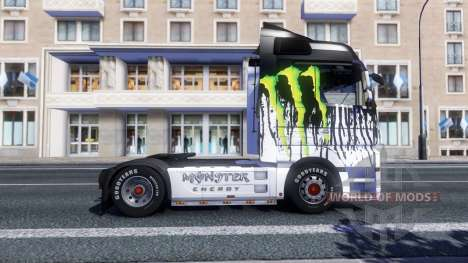 Окрас -Monster Energy- на тягач Majestic для Euro Truck Simulator 2