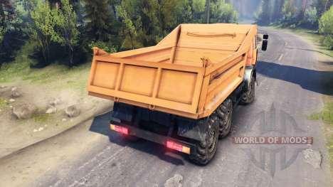 КамАЗ-6520 6х6 для Spin Tires