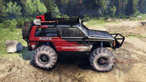 Jeep Cherokee XJ v1.3 Rough Country red dirty для Spin Tires