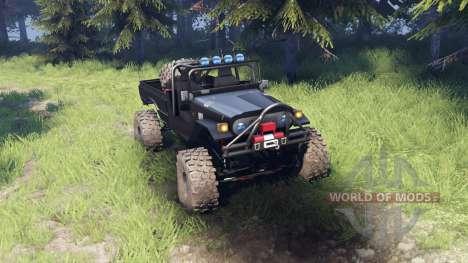 Toyota FJ40 Black для Spin Tires