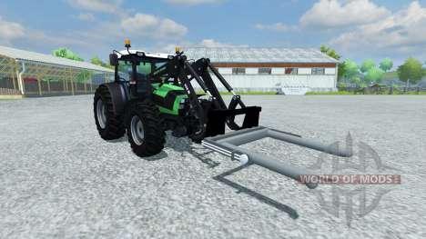 Вилы для погрузки круглых тюков для Farming Simulator 2013