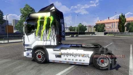 Окрас -Monster Energy- на тягач Renault Premium для Euro Truck Simulator 2