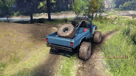 Toyota FJ40 Steel Blue для Spin Tires