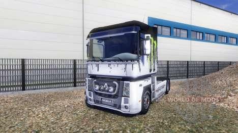 Окрас -Monster Energy- на тягач Renault Magnum для Euro Truck Simulator 2