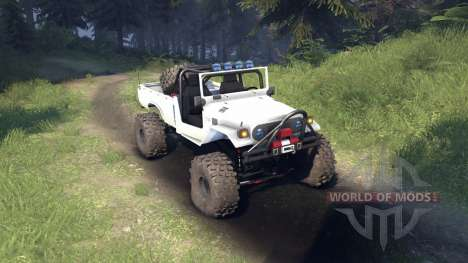 Toyota FJ40 White для Spin Tires
