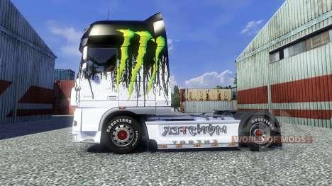Окрас -Monster Energy- на тягач DAF для Euro Truck Simulator 2