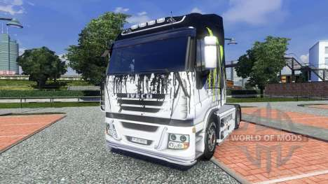 Окрас -Monster Energy- на тягач Iveco для Euro Truck Simulator 2