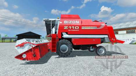 Bizon Z 110 red для Farming Simulator 2013