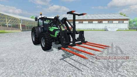 Вилы для погрузки тюков для Farming Simulator 2013
