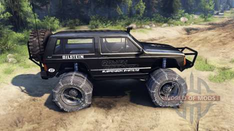 Jeep Cherokee XJ v1.3 Rough Country black для Spin Tires