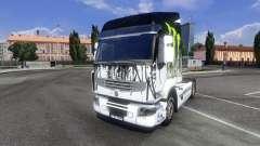 Окрас -Monster Energy- на тягач Renault Premium