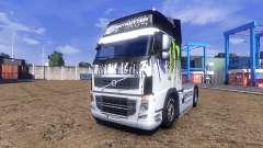 Окрас -Monster Energy- на тягач Volvo