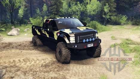 Ford F-350 Super Duty 6.8 2008 v0.1.0 camo для Spin Tires
