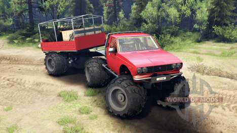 Toyota Hilux Truggy v1.0 wheels2 для Spin Tires