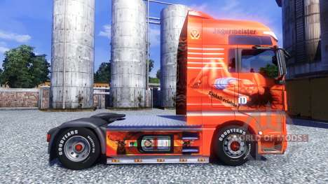 Окрас -Jagermeister- на тягач MAN TGX для Euro Truck Simulator 2