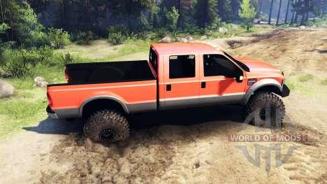 Ford F-350 Super Duty 6.8 2008 v0.1.0 orange для Spin Tires