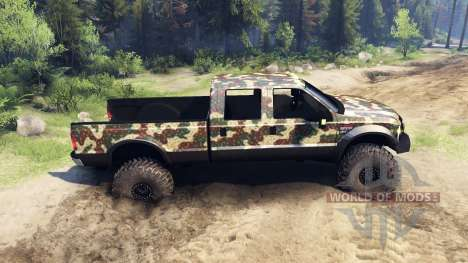 Ford F-350 Super Duty 6.8 2008 v0.1.0 ambush cam для Spin Tires