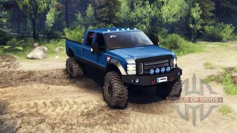 Ford F-350 Super Duty 6.8 2008 v0.1.0 blue для Spin Tires