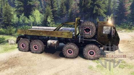 КрАЗ-7Э6316 v1.3 dirty для Spin Tires
