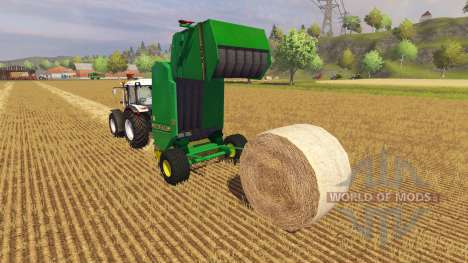 Тюковщик John Deere 590 v2.0 для Farming Simulator 2013
